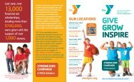 GIVE GROW INSPIRE - YMCA of Greater Williamson County