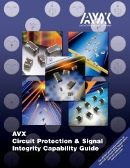 Circuit Protection & Signal Integrity Capability Guide - AVX