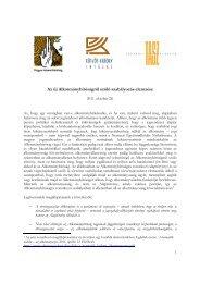 Az új Alkotmánybíróságról szóló szabályozás elemzése - AEDH
