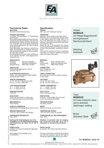 MGMG2S 2/2-way-solenoid valve servo