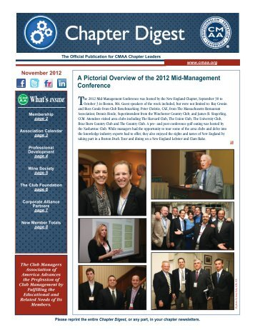 What'sINSIDE - Club Managers Association of America