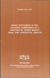 Download the full report as PDF - B'Tselem
