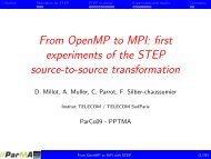 From OpenMP to MPI - ParMa - Parallel Programming for Multicore ...