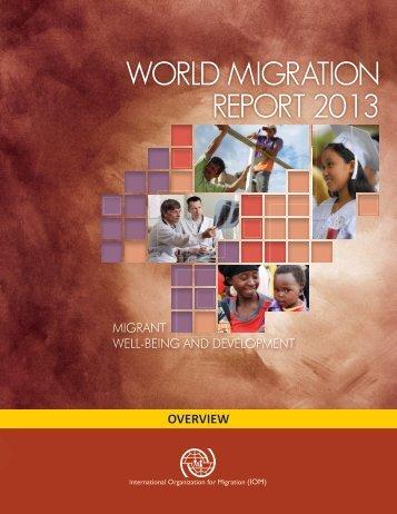 WORLD MIGRATION REPORT 2013 - IOM