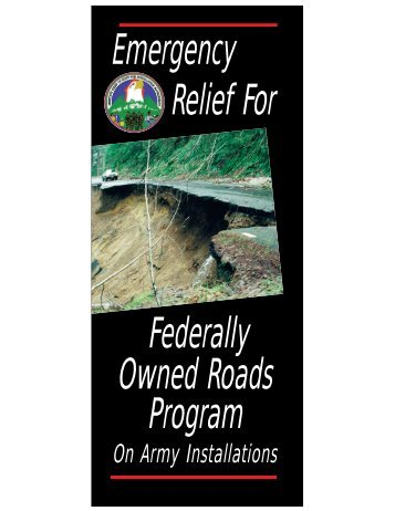 Emergency Relief For Federally Owned Roads Program