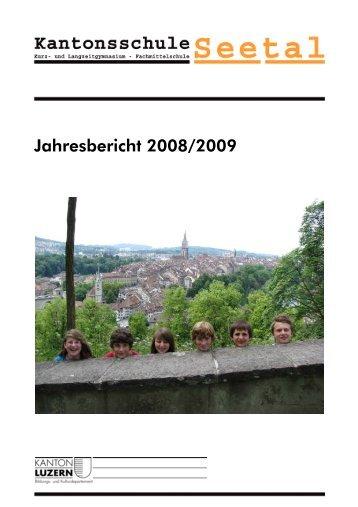 Jahresbericht KS See 08-09.pdf - Kantonsschule Seetal