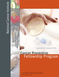 NCI CPFP — Application Catalog 2009 - National Cancer Institute