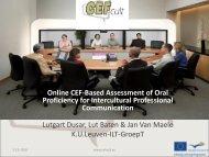 Online CEF-Based Assessment of Oral Proficiency for ... - lscoop.com
