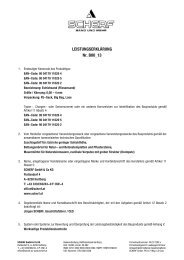 LEISTUNGSERKLÄRUNG Nr. B00_13 - Scherf