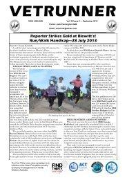 Run/Walk Handicap—28 July 2013 - ACT Veterans Athletics Club