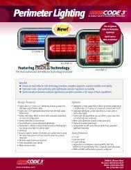 LED PriZm II Perimeter Lights Sell Sheet - Code 3 Public Safety ...