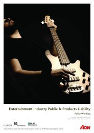 Entertainment Industry Public & Products Liability - Aon Australia