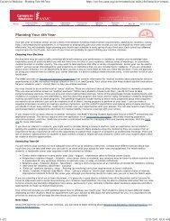 Careers in Medicine - Planning Your 4th Year - School of Medicine ...