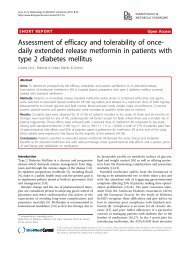 Assessment of efficacy and tolerability of once-daily extended ...