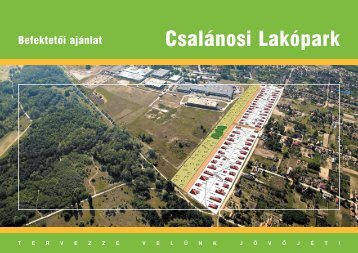 Befektetési ajánlat - Technik-Park Heliport