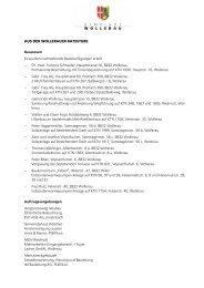 Ratsbericht (PDF, 98kB) - Gemeinde Wollerau