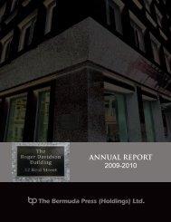 ANNUAL REPORT 2009-2010 - Bermuda Stock Exchange