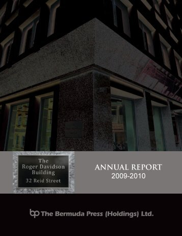 ANNUAL REPORT 2009-2010 - Bermuda Stock Exchange