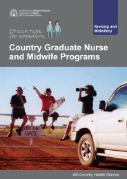 WA Country Graduate Nurse and Midwife Programs