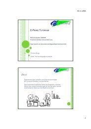 04.11.2008 1 e-prime tutorium ziele - Friedrich-Schiller-Universität ...