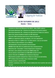19 DE OUTUBRO DE 2012 Sexta – feira - Sindimetal/PR