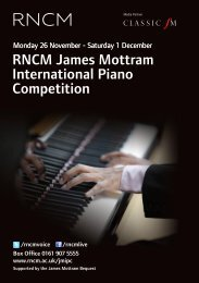RnCm James mottram international Piano Competition