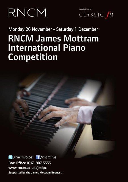 RnCm James mottram international Piano Competition