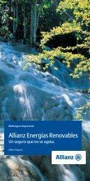 Folleto Allianz Energías Renovables