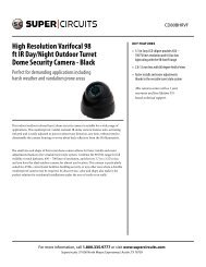 High Resolution Varifocal 98 ft IR Day/Night Outdoor Turret Dome ...