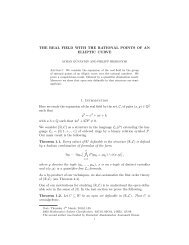 THE REAL FIELD WITH THE RATIONAL POINTS OF AN ELLIPTIC ...