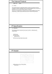 The Internet Protocol IP Specification IP Header
