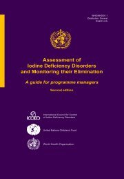 Assessment of Iodine Deficiency Disorders and Monitoring their ...