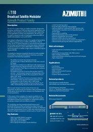 AZ110 Broadcast Satellite Modulator - TBC Integration