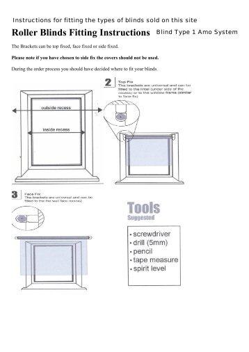 fitting instructions for solar inserts merit blinds. Black Bedroom Furniture Sets. Home Design Ideas