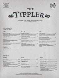 WINES COCKTAILS - The Tippler