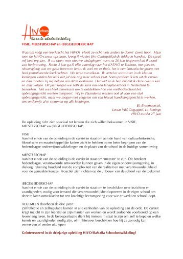 VISIE, MEESTERSCHAP en (BEGE)LEIDERSCHAP ... - DPB Brugge