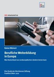 Studie: Berufliche Weiterbildung in Europa - Otto Brenner Stiftung