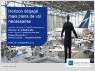 Analyse sectorielle Aéronautique par Euler Hermes - Présentation ...