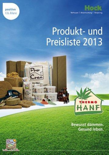 Produktübersicht Hock - Eco-house