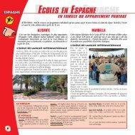 ECOLES EN ESPAGNE - Nacel