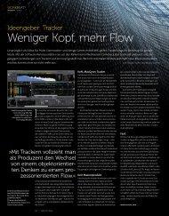 Tracker - weniger Kopf, mehr Flow - BEAT 01/2013 - plasticAge.de
