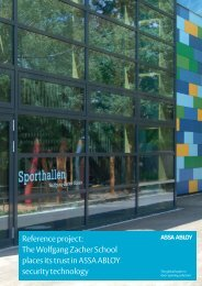 Reference project: The Wolfgang Zacher School places ... - Assa Abloy