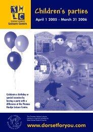 Children's parties - Dorsetforyou.com