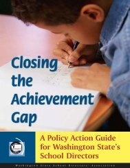 Closing the Achievement Gap - Washington State School Directors ...