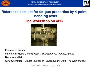 Reference data set for fatigue properties by 4-point bending tests ...