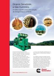Grupos Geradores a Gás Natural e Biogás - Cummins Power ...