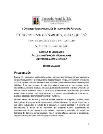 CONOCIMIENTOS Y SABERES, ¿PARA QUIÉN? - Facultad de ...