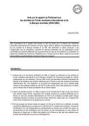 Projet d'avis sur le rapport au Parlement sur les activités ... - Globenet