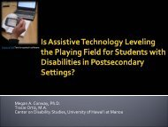 Is Assistive Technology Leveling the Playing Field for Students with ...