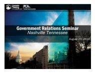 Government Relations Seminar - American Concrete Pavement ...